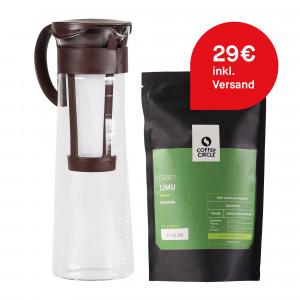 Cold Brew Coffee Zubereiter & Kaffee im Set