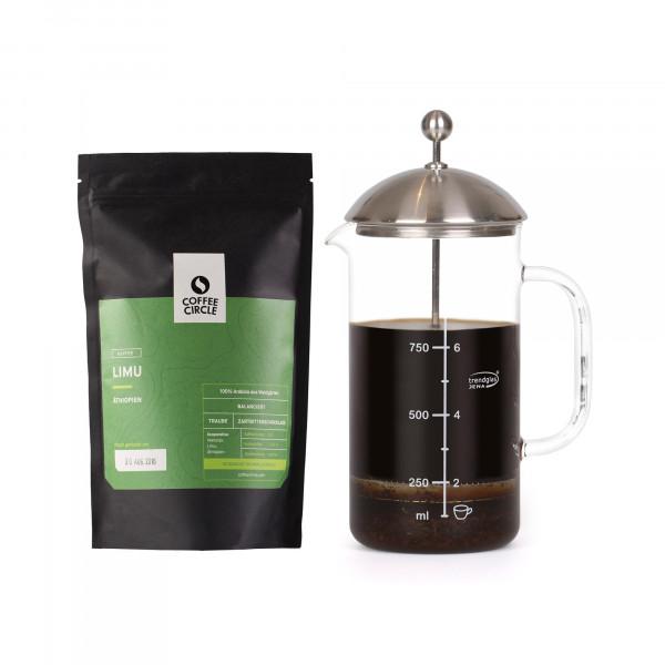 French Press & Kaffee im Set