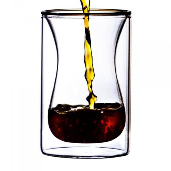 St. Anthony Plum Bottom Snifter doppelwandiges Kaffeeglas